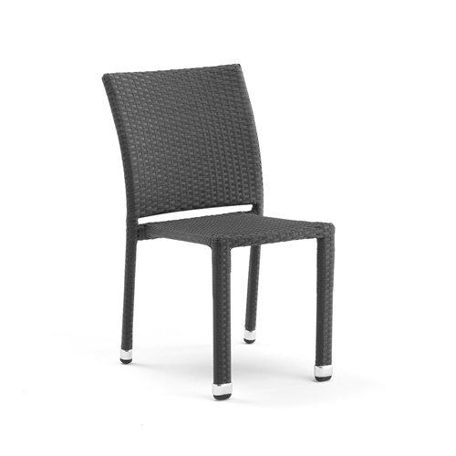 Krzesło Do Kawiarni Aston Sztaplowane Rattan Czarny Aj Produkty Bm